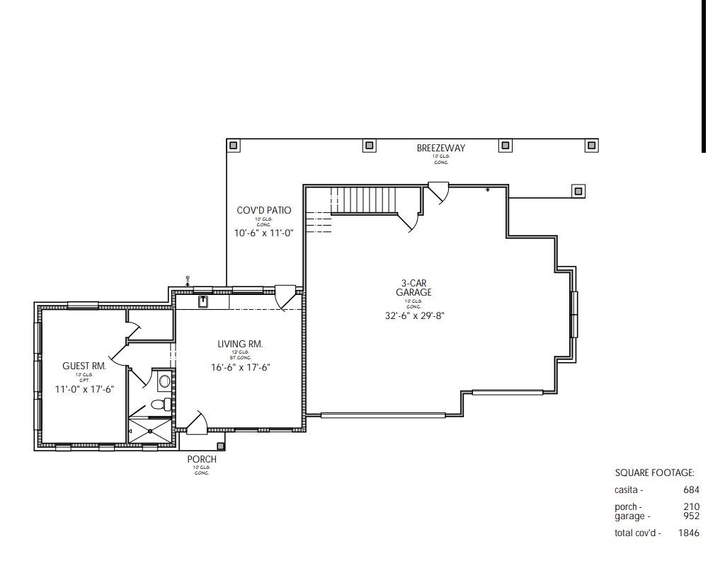 Legacy Ranch Casita Floorplan