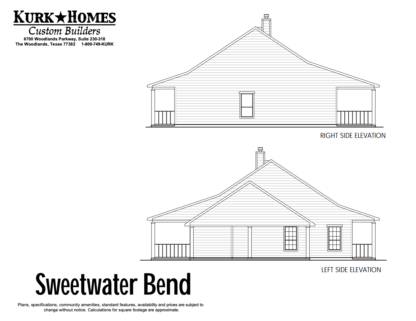 Sweetwater Bend - Side Elevation