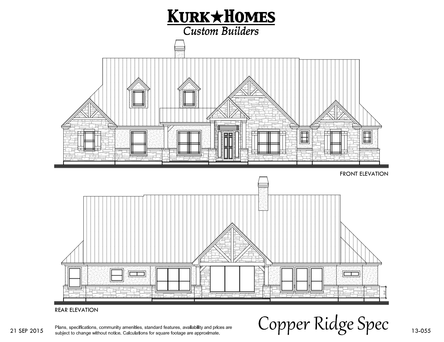 The Copper Ridge Model - Home Plan Design