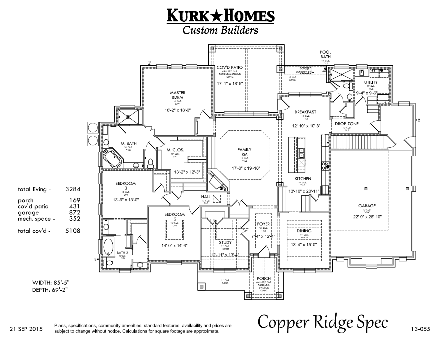 The Copper Ridge Model - Home Plan