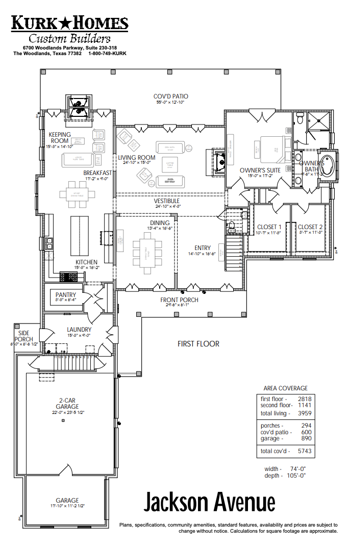 The Jackson Avenue - Home Plan Design