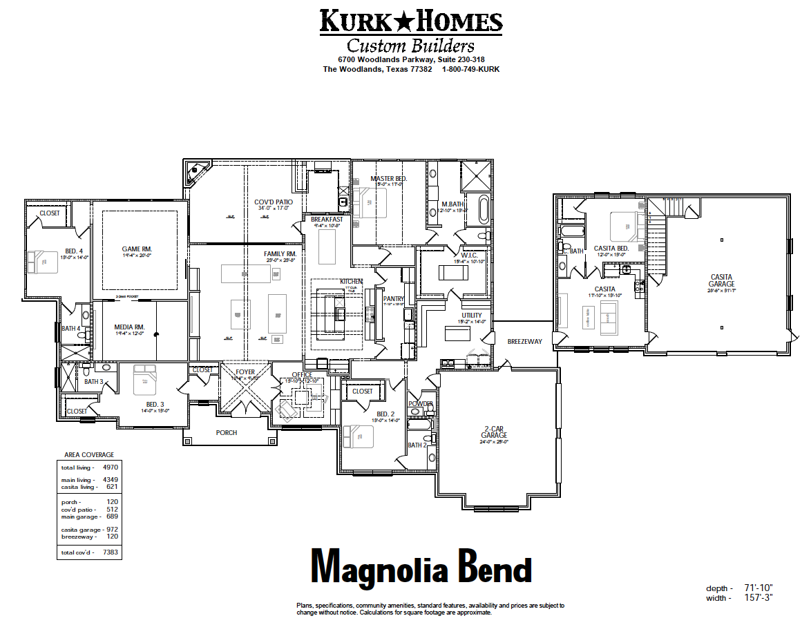 The Magnolia Bend - Home Plan Design