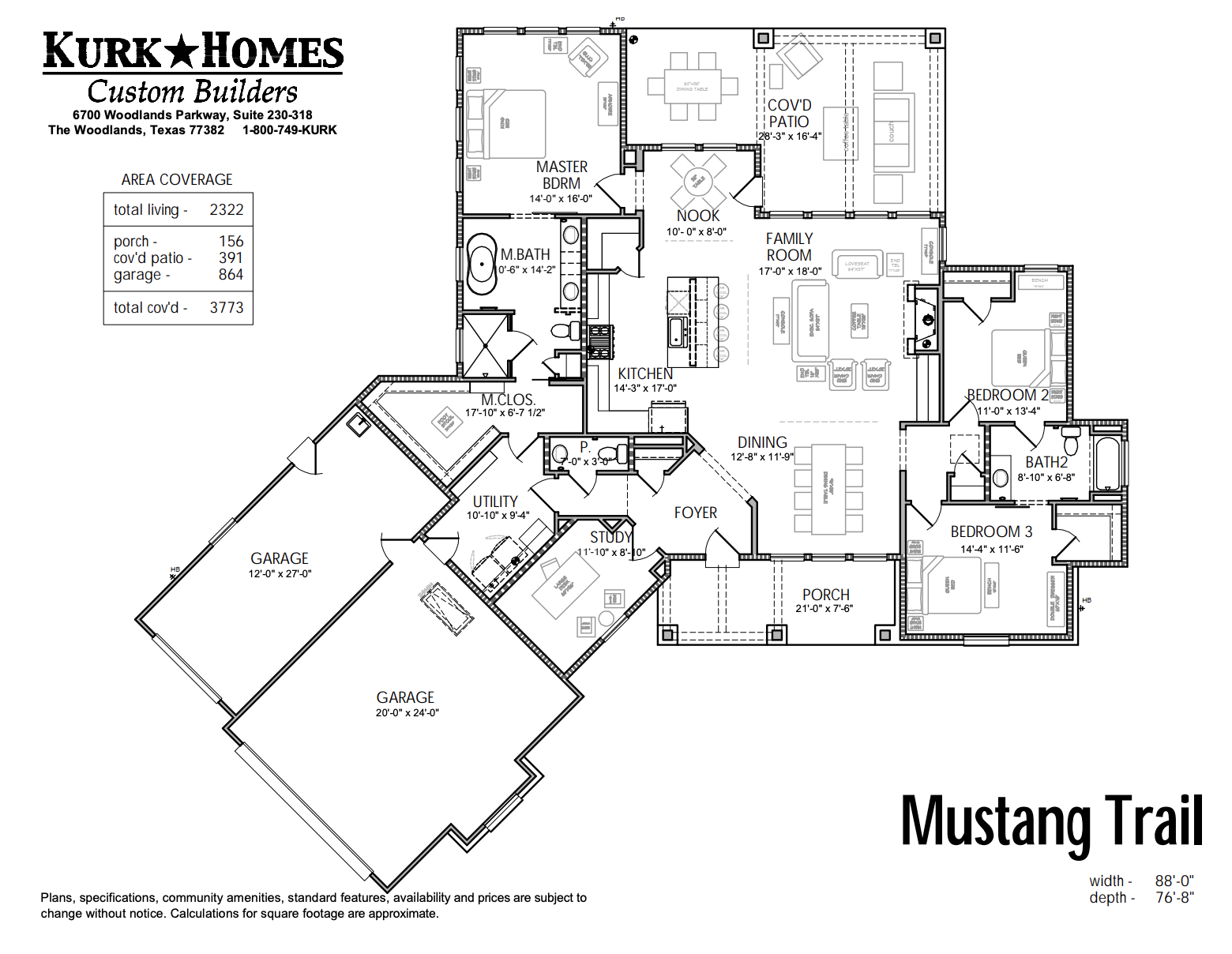 The Mustang Trail - Home Plan Design