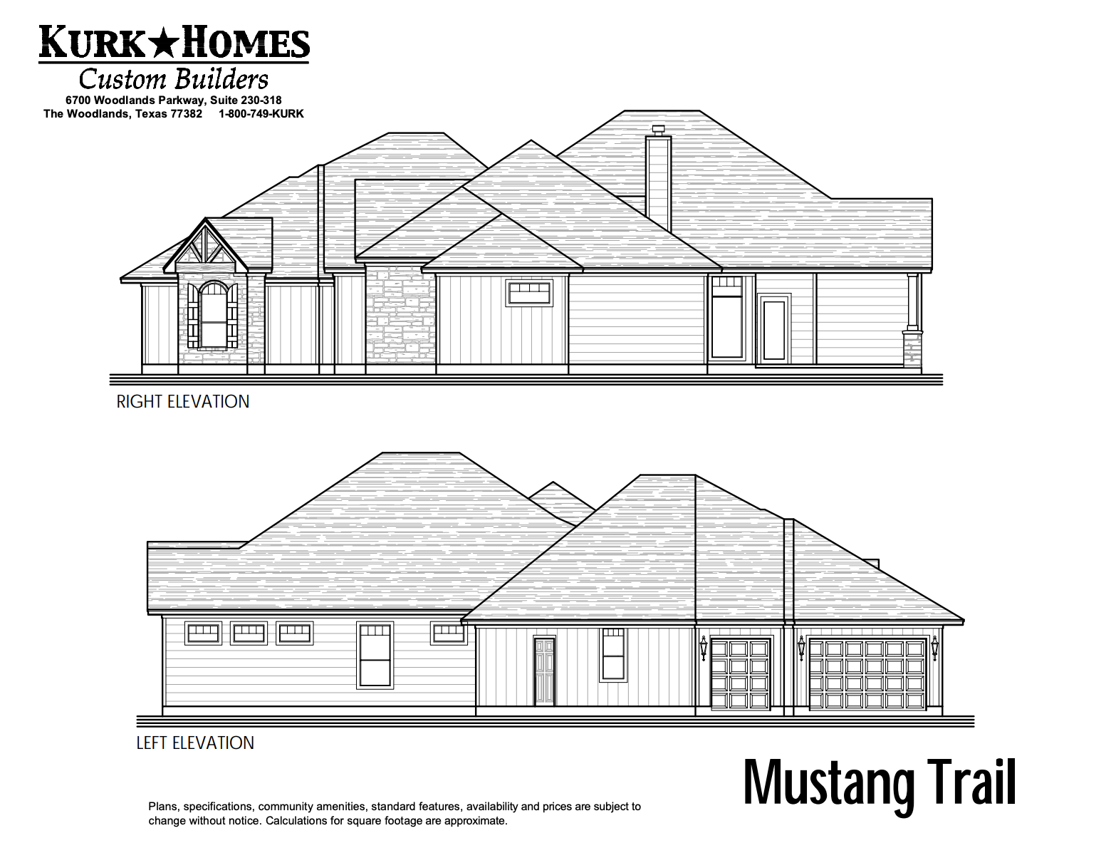 The Mustang Trail - Side Elevation