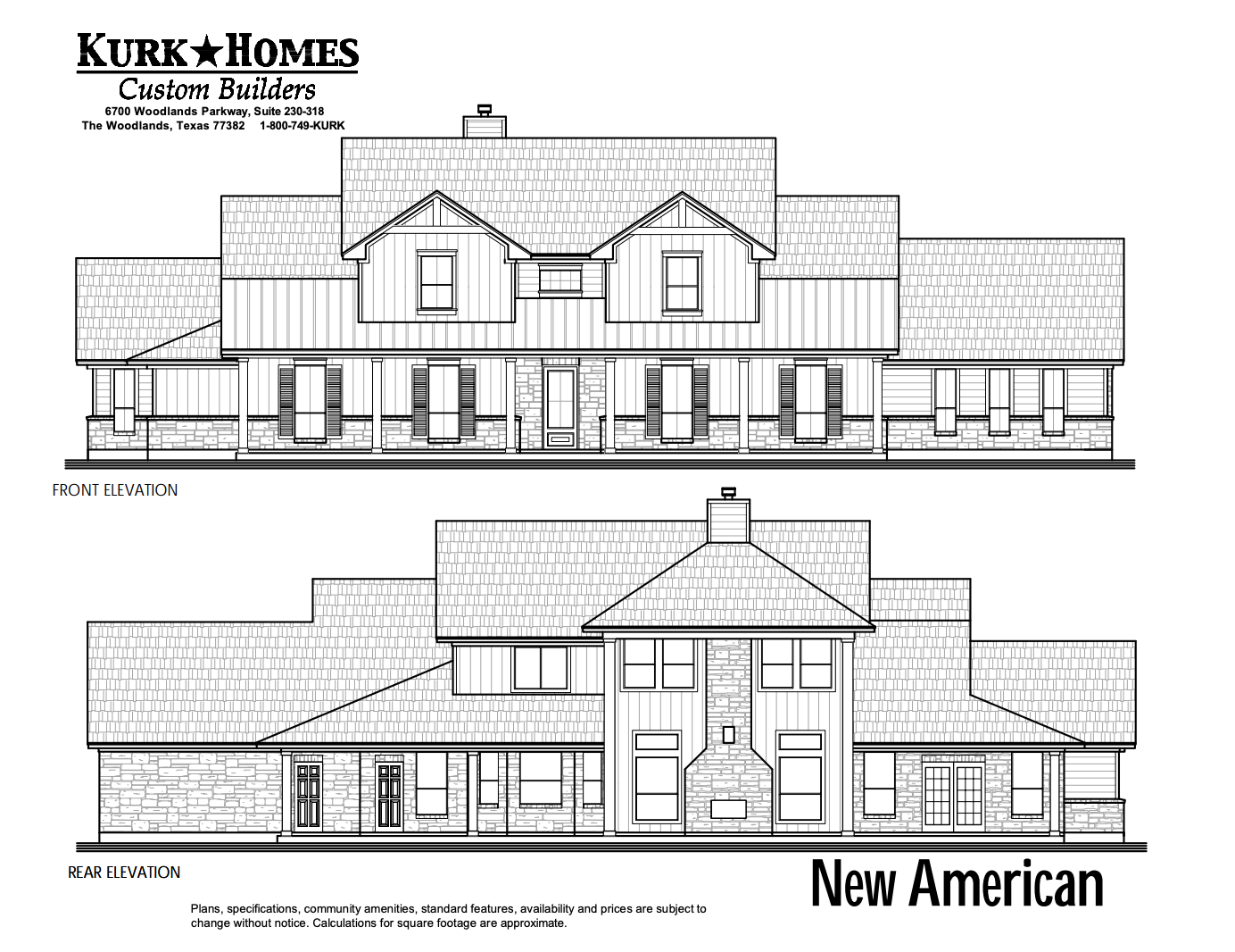 The New American - Exterior Elevation